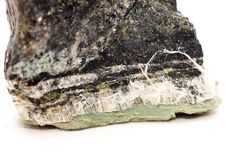 Amiante, fibres serpentines Images stock
