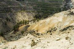 Amiantos石棉矿区域,塞浦路斯 库存照片
