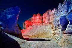 Judean Desert at night. Stock Photos