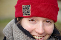 Amica sorridente Fotografia Stock Libera da Diritti