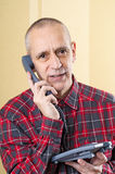 Amicable Man on Phone Stock Photography
