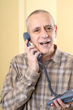 Amicable Man on Phone Stock Image