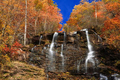 Amicalola Falls in autumn Royalty Free Stock Image
