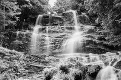 Amicalola Falls. North Georgia Water Fall in Infrared Stock Images