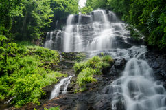 Amicalola Falls. Slow shutter speed of Amicalola Falls in Georgia in Summer stock image