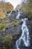 Amicalola nedgångar vattenfall, Georgia State Park fotografering för bildbyråer