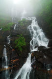 Amicalola water fall. During a foggy day Stock Photo
