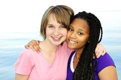 Amiche adolescenti felici Fotografia Stock