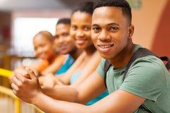 Amici africani dell'istituto universitario Fotografie Stock Libere da Diritti