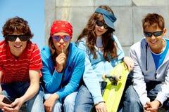 Amici alla moda Immagine Stock