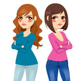 Amici arrabbiati delle donne illustrazione vettoriale