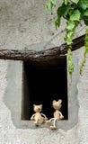 Amici del topo e del gatto fotografia stock