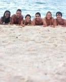 amici della spiaggia Immagini Stock