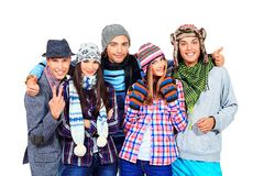 Amici di inverno Fotografia Stock