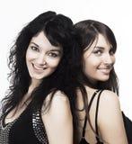 Amici felici delle giovani donne Fotografia Stock