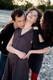 Amici - rapporti - triangolo Fotografia Stock Libera da Diritti