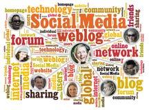 Amici sociali di media Immagine Stock Libera da Diritti