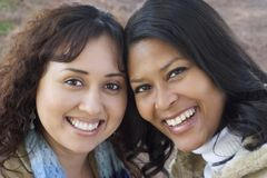 Amici sorridenti Immagini Stock Libere da Diritti