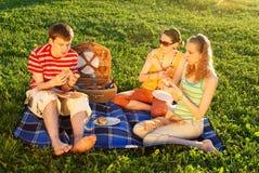 Amici sul picnic Immagine Stock