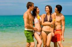 Amici sulla vacanza Fotografie Stock