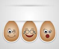 Amici svegli divertenti dell'uovo di Pasqua. Fotografia Stock