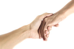 Amicizia e concetto di amore fra l'uomo e woman.isolated su wh Immagini Stock