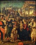 Amico Aspertini: Adoración de unos de los reyes magos Foto de archivo