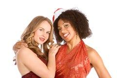 Amico etnico di sig.ra il Babbo Natale di Latina di Natale Fotografia Stock Libera da Diritti