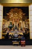 Amida Buddha på den Honganji templet i Tokyo Arkivfoto