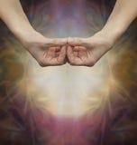 Amida Buddha Samahita Mudra ręki pozycja Zdjęcie Stock