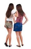 Amie de deux jeunes femmes. Images libres de droits