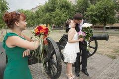 Amie de la jeune mariée Image stock