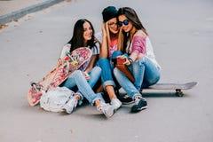 Amie de trois filles Images stock