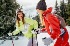 Amie des vacances d'hiver Photo libre de droits