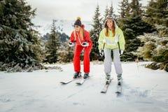 Amie des vacances d'hiver Photos stock