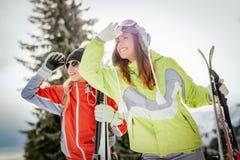 Amie des vacances d'hiver Image stock