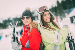 Amie des vacances d'hiver Images libres de droits