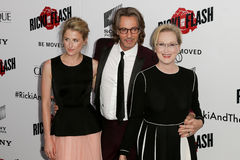Amie Gummer, Rick Springfield, Meryl Streep Royalty Free Stock Photo