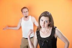 Amie ou épouse bouleversée Photographie stock libre de droits