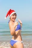 Amie Santa Claus heureuse Photographie stock