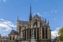 Amiens domkyrka, Frankrike Arkivbild