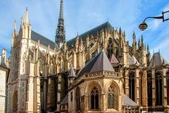 amiens domkyrka gotisk arkitekturfransman arkivfoton