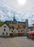 Amiens domkyrka och Don Street Picardy France Royaltyfri Foto