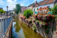 Amiens is een stad in noordelijk Frankrijk Royalty-vrije Stock Foto