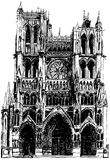 Amiens Gothic cathedral Stock Photo