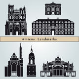 Amiens landmarks and monuments Royalty Free Stock Image