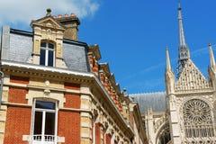 Amiens van de binnenstad in Frankrijk Stock Afbeeldingen