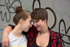 Amies adolescentes Photographie stock