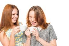 Amies appréciant un thé délicieux Photo libre de droits