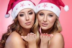 Amies de Noël Images libres de droits